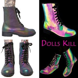 Dolls Kill Rainbow Warrior Reflective …